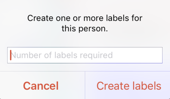 printing multiple labels for one person