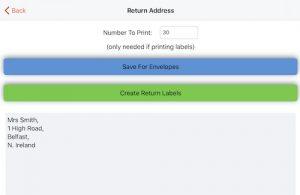 entering return address