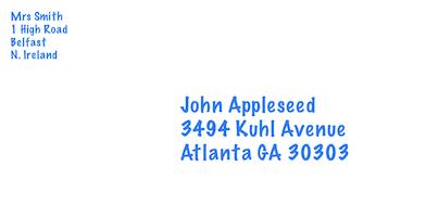 Return address printed multi-line