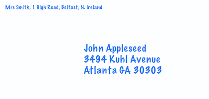 Return address on single line